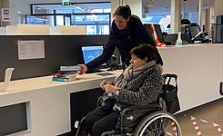 bibgebruiker rolstoel